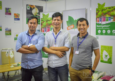 The Haifa team shows the nutrigation solutions: feeding the plants in a precise way.