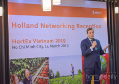 """Vietnam has the ambition to become a regional and global player in agriculture and horticulture,"" says Willem Schoustra, Dutch agriculture council for Vietnam and Thailand. He hosted the Holland Networking Reception on Thursday.https://www.hortidaily.com/article/9078908/vietnam-wants-to-become-the-vegetable-garden-of-southeast-asia/"