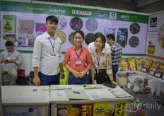 Bui Thi Duyen, Le Duy Tung Phan Thi Bich Ngoc with Eco Footprint Co, Vietnamese supplier of products for sustainable horticulture.