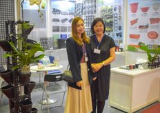 From Taiwan are the lovely Jasmine Huang Ling Ling Chang with Chin Kuei Gardening Material, moulding injection company.