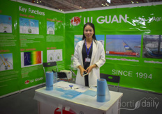 Lei Xu, manager of Luguan Plastic, was taking a walk on the show so his colleague was in the photo this day.