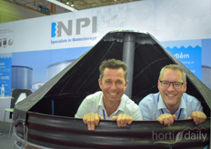 It's a wrap! But not without this photo of Erik van Geest Arjen van Dijk with NPI showed the capacity of their water storage tanks.
