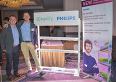 Blake Lange & Roel Janssen with Signify show the recently launched Production Module and GrowWise Control System