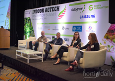 Emily Griep, Manager, Food Safety, at United Fresh Produce Assosciation, hosted talks on food safety & labelling with David Rosenberg, CEO & Co-Founder, Aerofarms, Paul Lightfoot, CEO at Brightfarms & Chelsea Davidson, Consumer Safety Officer, Office of Food Safety at the USDA.