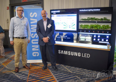 Krzysztof Sosniak & Vince Feorenzo with Samsung LED, explaining how their components benefit various LED suppliers.