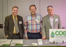 Dave Saunders (PAVA Group), Michael Guttman (Kennett Township) and Eric W. Stein (Center of Excellence for Indoor Agriculture)