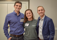 Jeffrey Ladau (Agritecture Consulting), Kayla Waldorff (Autogrow) and Austin Smith (Grodan Rockwool)