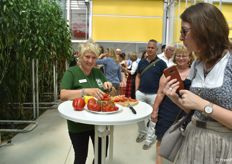 Visitors could also taste vegetables from the greenhouse right away