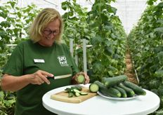 Christa Pasti also takes care of the tours in the greenhouses during the year