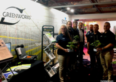 (L to R) Saskia Blanch, Kynan Smyth and Jamie Togyer from AIS Greenworks, Vincent Kuijvenhoven from Groden, David Franklin, Theo Stolze and Henry Bosman from AIS Greenworks.