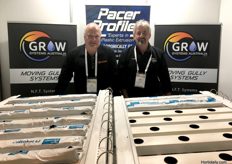 Roy Houweling from Pacer Profiles and Mark Lines from Grow Systems Australia.