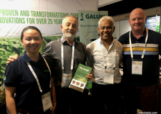 (L to R) Rose Wu from Plantlogic, Andrew Stefanou and Joe Davids from Galuku Group Pty Ltd, and Mark Woodhead from Haygrove Tree of Life.