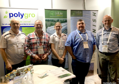 (L to R) James Downey, Shane Burns and Shane Steffen from Polygro Pty Ltd, Ross Watt from Elite Tunnels Ltd, and Tom De Smedt from RKW Hyplast.