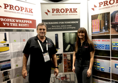 Garry Sandercock and Hannah Sandercock from ProPak Industries Inc.