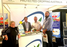 (L to R) Jan Davis from Protected Cropping Australia, John McDonald from NGIA, Jonathan Eccles from Protected Cropping Australia and Benjamin Reilly from Steritech.