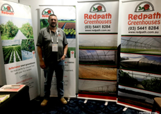 Brian Clark from Redpath Greenhouses.