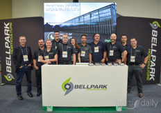 The team with Bellpark & various of their suppliers, offering horticultural automation solutions to all kind of growers.