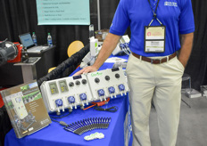 Michael Bogolawski with Hanna Instruments, showing various of their measurement solutions.