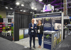 In the mystic mist are Vincenzo Russo & Antonella Migliozzi with Vifra. In addition to their high pressure fog system their dryers are of high popularity in US & Canada.