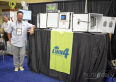 Jeff Gibson with Link4. The company manufactures software and environmental controls for growers.