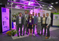The team with HortAmericas. During the show amongst other things the new Arize Element Top Light, the L1000, was launched by Current powered by GE, and Hort Americas and Current announced their partnership for LED lighting. Read more about it here.
