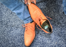 And there is the secret being revealed! Even though the shoes might be orange, the base of the team is the Martin Stolze logo.