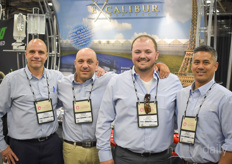 The Excalibur Plastics team - or is it more a family? In the photo Dean Colasanti, David Boutros, Josh Carnevale & Mike Garganta. The company supplies amongst others greenhouse plastic, energy curtains, woven groundcover & water storage tanks to the North American and Mexican industry and has been expanding steadily since they were founded in 2002.