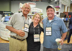 Time to toast! You can leave that to Bert Neeft with Total Energy Group, Julie Gilbert -Vijverberg with G&V Greenhouse Solutions & Dave Burwell with LL Klink.