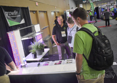 Michael Naylor shows the Growfilm products.