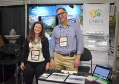 Paige Schavey & Jim Sabey with Ceres. The company specializes in passive-solar, custom commercial greenhouse design