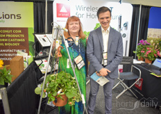 Maija Strauts & Tom Reksna with Aranet, showing their wireless solutions for horticultural measuring.