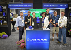 The Dosatron team shows the water treatment solutions and the nutrient delivery systems. They provide solutions to both big growers as smaller companies, making it possible to gain more control over your irrigation.