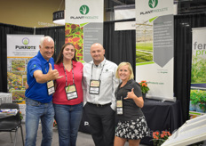 "Huub Kenmere, Alyssa Moreno, Andrew Eye & Carly Kelly Scholtz with PlantProducts.The Plant Products booth had a lot of activity and ""bounce"" as they launched PurKote CRF. PurKote is manufactured by Pursell Agri-Tech, located in Sylacauga, Alabama. Pursell has a long history in the fertilizer business. ""The addition of PurKote fills a void in the Plant Products portfolio in the US and allows them to bring more solutions to ornamental growers"", the team explains."
