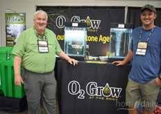 Dennis Clark with O2 Grow & Dion Graber with Micro Farms.