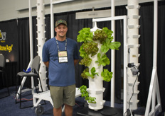 Dion Graber with Micro Farms.