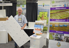 Paul O'Neill with BPGrower, showing the RFID tagged bee hives that are in high demand at the moment.