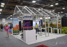 Netafim brought one of their own built greenhouses to the show this year.