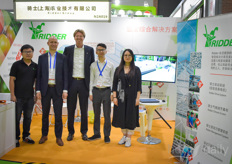A horticultural triangle! Fulco Wijdooge & Joep van den Bosch, Yameng Fei and Zhoucen Feng with Ridder Group. Fulco's talk on developments in greenhouse horticulture was very well visited and received.
