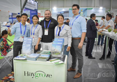 Michael Oates and Ivan Peltekov with their Haygrove team. They company both supplies Chinese growers and operates their own soft fruit farms.