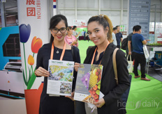 Rozanna Dabrera & Wanwisa Wongkasit with VNU Exhibitions. The next Horti Asia, that they are promoting these days, will be held from 07-09 May 2020 in Bangkok, Thailand.
