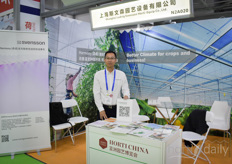 Yunpeng Fang with Svensson. With their Shainghai office they help growers bettering their climate and energy savings with screen solutions.