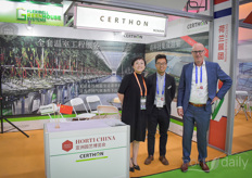 Rui Yin & Richard van der Sande with Certhon.