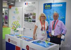 Catherine  Goxe and Jacky Brechet came all the way from Angers in France. There's a lot going on there: the Sival and Vegepolys will be held in 2020 and in the summer of 2022 the International Horticultural Congress IHC will come to Angers as well.