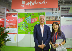 Oscar Niezen with CoHort Consulting & Wanwisa Wongkasit with VNU Exhibitions. Oscar took care of the Dutch pavilion