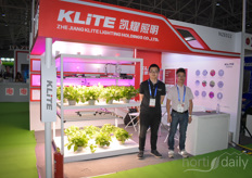 Tony & Zang Ling with K-lite, offering LED solutions.