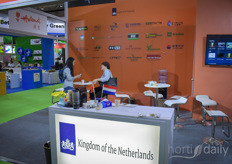 The Dutch pavilion was supported by many companies.
