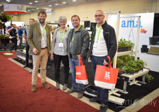 Soft fruit specialist Eric Boot. Pam Fischer (Fischer Consultancy), David Klon Hesselink (Fenwick Berry Farms), Will Van Viet (Van Vliet Group) meeting up to check the solutions AMA Horticulture provides for the soft fruit industry.