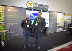 As the rest of the team was out for lunch, Larry Chartier & Scott Holmes had time for a photo. The etGROW products provide insights on growing.