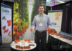 John Davis with Axia Vegetable Seeds shows the many varieties suited for the Canadian growers