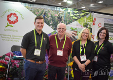 Flowers Canada Growers launched a new growers' directory. In the photo Jason Morse, Tom Baker (workplace safety & prevention services), Lynda Twomey & Jess Gough.